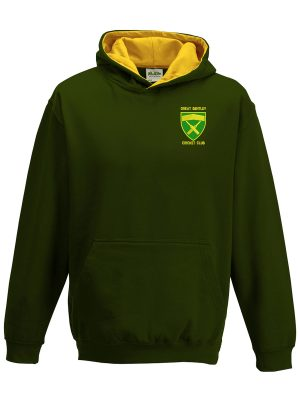 Great Bently Cricket Club Junior Hoodie Front